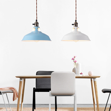 Modern Iron Pendant Lamp Led Light Kitchen Hanging Nordic Loft Light Luminaire Singe Vintage Art Deco Living Room Reading Cafe diy american country creative iron pendant light led lamp iron metal hanging lamp nordic designer light art deco lighting abajur