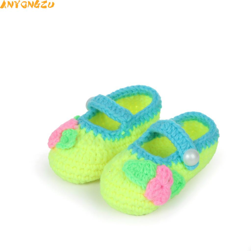 1PCS Anyongzu Hot New Shoes Handmade Baby Toddler Soft Bottom Yarn Boys and girls 3 color 11cm