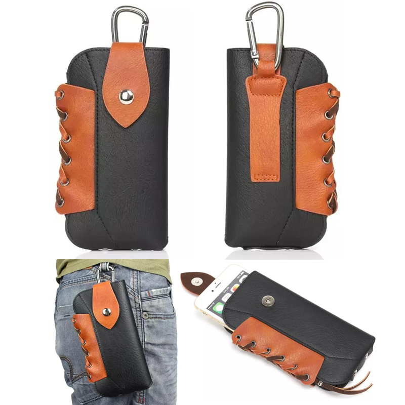 Leather Pouch Belt Clip Hook Loop Protective Phone Case Cover Bag Holster For Explay Tornado / for Fly IQ4417 Quad ERA Energy 3