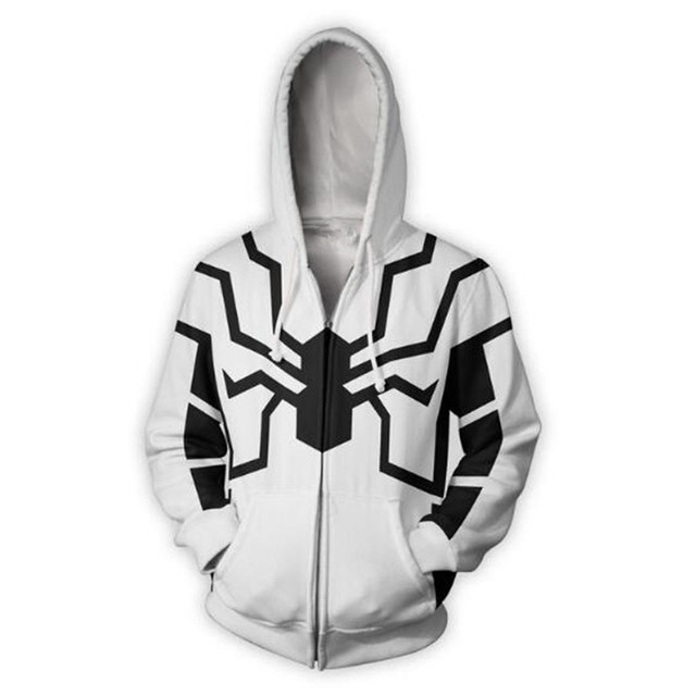 99715791c Future Foundation Spider man Zip Up Hoodie Men women 2018 3D print cosplay  hot Style Streetwear Long sleeve jacket clothing -in Hoodies & Sweatshirts  from ...