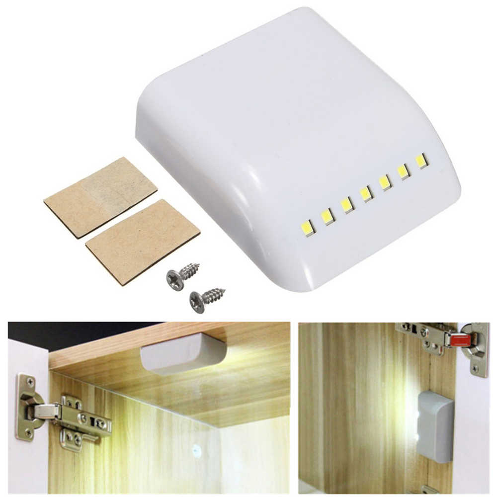 3pcs Cabinet Hinges Light 7 LED Control Sensor Night Lamp ABS Universal Furniture Hardware for Kitchen Cupboard Closet Wardrobe