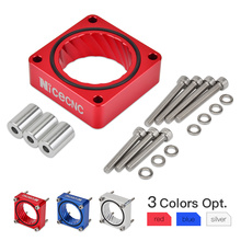 Throttle Body Spacer Air Intake Manifold Extender Adaptor For Jeep Cherokee 1984-2001 4.0L 2.5L Engines 4-Bolts Throttle Bodies wlring store new throttle body for rsx dc5 civic si ep3 k20 k20a 70mm cnc intake throttle body performance wlr6951