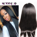 Sunnymay Indian Virgin Human Hair Wigs Direct From Factory Straight Full Lace/Lace Front Wig With Natural Hairline