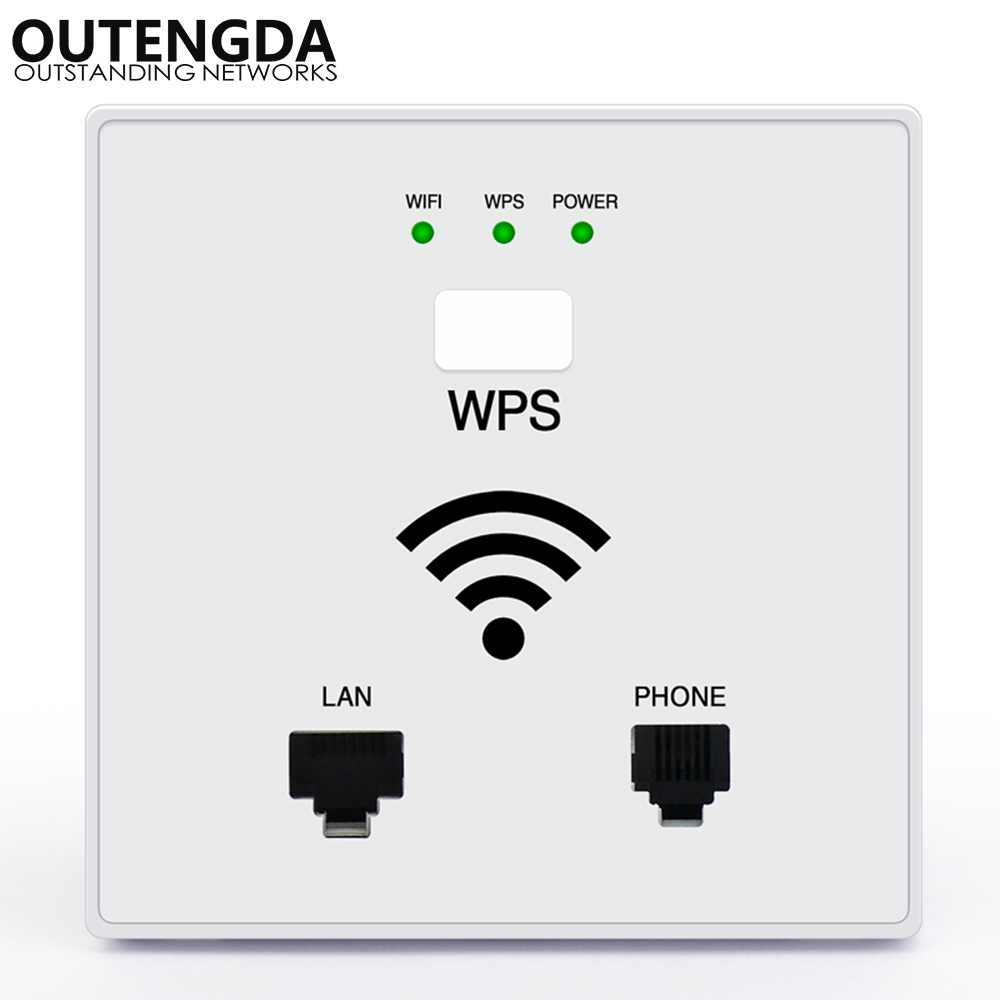 300mbps In Wall Wifi Access Point Wireless Socket Ap For
