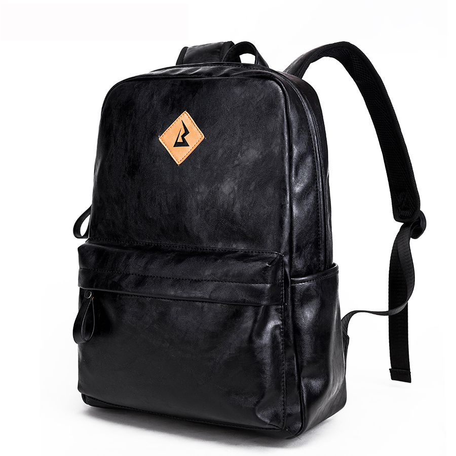 2017New Arrivals Men PU leather Backpack For 15.6inches Laptop Backpack Large Capacity Casual Style Bag Anti-theft Bags for Men men backpack student school bag for teenager boys large capacity trip backpacks laptop backpack for 15 inches mochila masculina