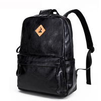 2017New Arrivals Men PU Leather Backpack For 15 6inches Laptop Backpack Large Capacity Casual Style Bag