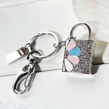 Sliver Diamond Lock USB Flash Drive U Disk Genuine Capacity 8GB 16GB 32GB 64GB Gift Jewelry Pen Drive Pendrive Memory Stick Gift
