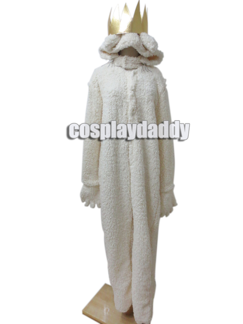 where the wild things are wolf king max halloween costume hoodie with crown cosplay costume - Max Halloween Costume Where The Wild Things Are