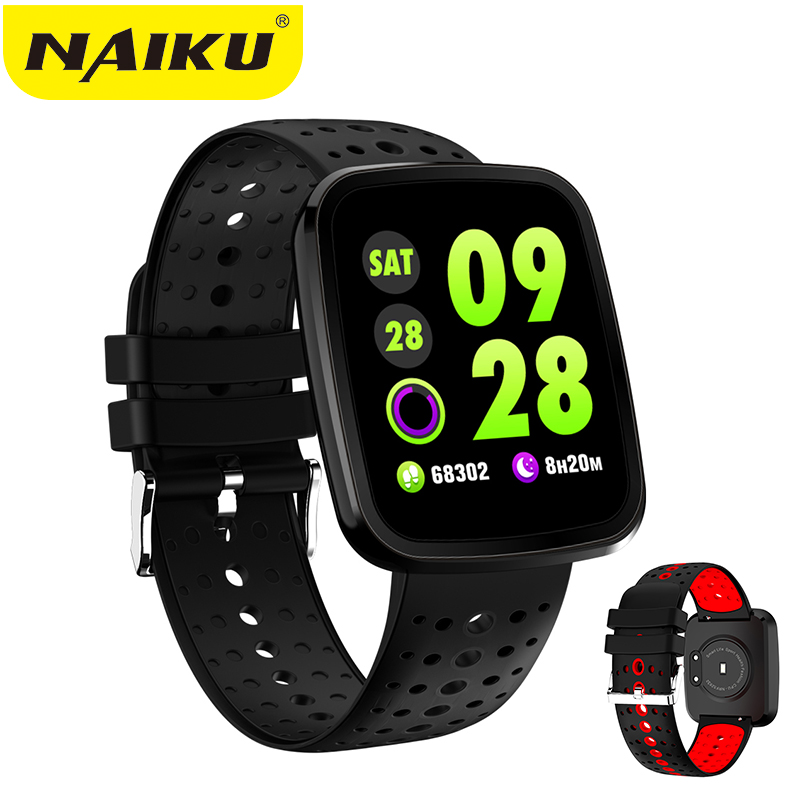 NAIKU Smart Bracelet V6 Pro Color Screen Waterproof Wristband Heart Rate Monitor Blood Pressure Measure Fitness