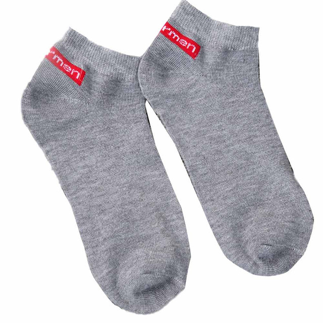 socks Short Ankle sock cotton Men Comfortable Solid socks Casual Male White Black Gray Colors 1 Pairs skarpety deodorant 2018
