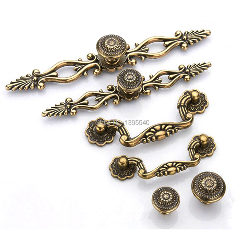 New 96mm Antique Cabinet Kitchen Handles Knobs Euro Style