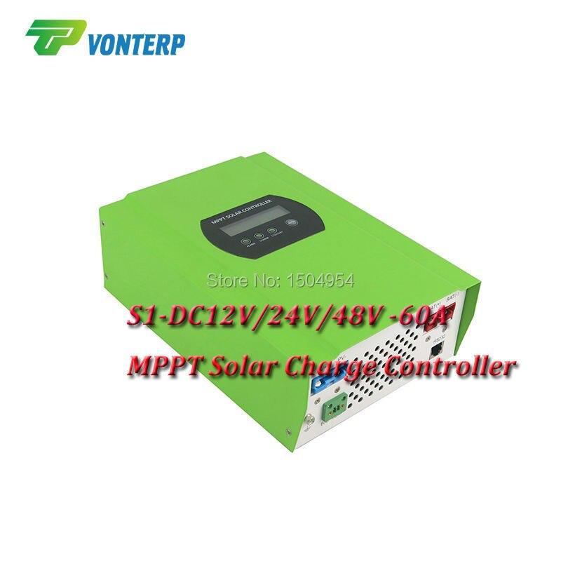 MPPT 60A LCD Solar Charge controller 12V 24V 48v auto switch MPPT 60A Solar charge controller MPPT 60A charger controller цена и фото
