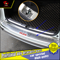 Piso da placa de aço inoxidável choques traseiro peitoril pedal tronco exterior retaguarda carro-styling rear fender guarnição para honda crv 2015-2016