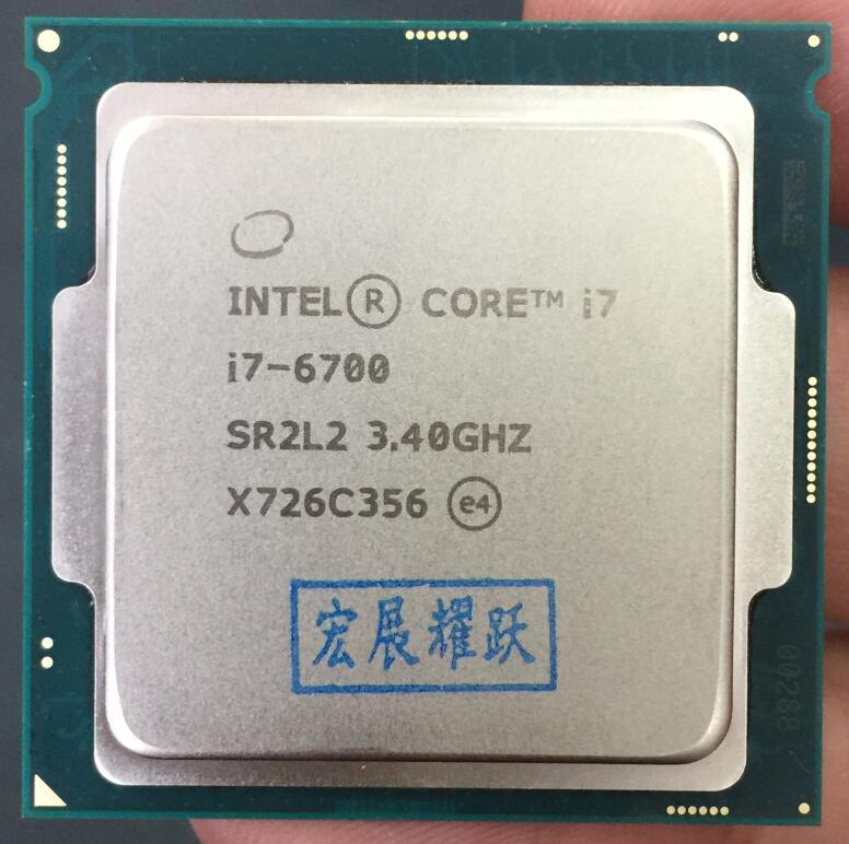 Intel Core 6 series Processor I7 6700 I7-6700 CPU LGA 1151-land FC-LGA 14 nanometers Quad-Core cpu цена