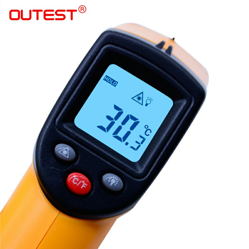 Image 3 - Infrared thermometer GM320 non contact Digital infrared  thermometer with laser  50~380 degree with blister packthermometer  networkthermometer ledthermometer batteries -