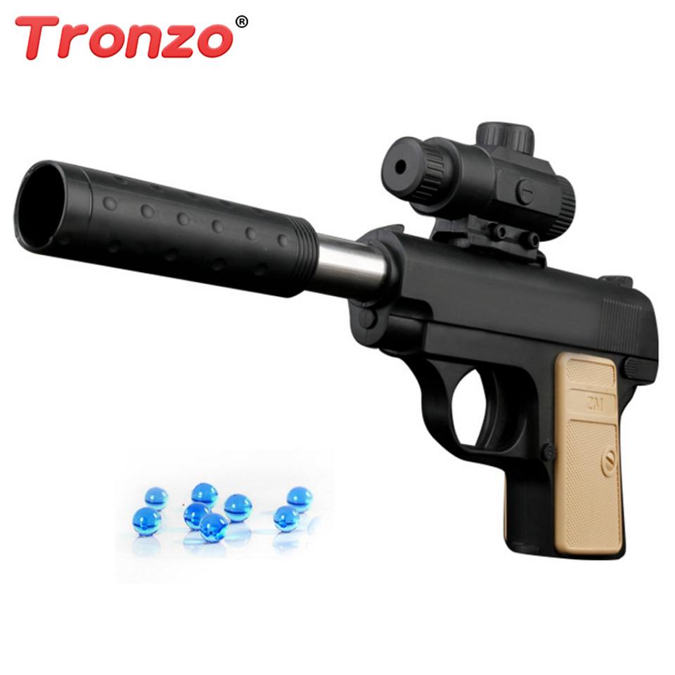 Tronzo 1pcs Manual Water Bombs Soft Bullet Pistol Toy Gun Boy Toys Gifts Orbeez Paintball Airsoft Air Guns Drop Shipping