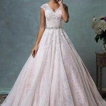 2019 Luxury Gorgeous A-line Wedding Dresses Vintage Lace