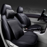 Special High quality Leather car seat covers For HUMMER H2 H3 car styling auto accessories car Stickers carpet 3D Black/Red