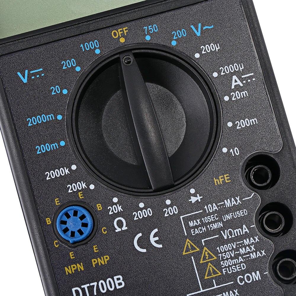 WHDZ DT700B Professional WHDZ DT700B Digital Multimeter AC DC Voltmeter DC Current Resistance Diode Multi Tester Tool