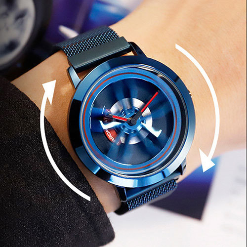 SANDA Men's Rotating Wheel Dial Fashion Quartz Watches 2