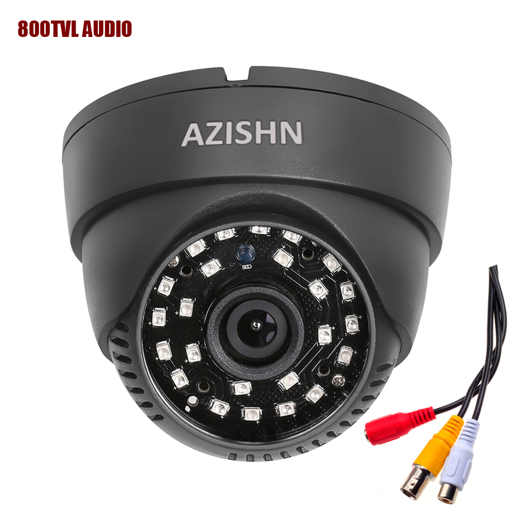 New audio Dome camera 800TVL 1/4 CMOS with IR-CUT 3.6mm lens 24pcs Laser (QT5524) IR with audio  cctv security  indoor camera touchstone teacher s edition 4 with audio cd