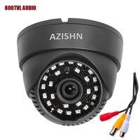 Free Shipping Dome Camera 700TVL 1 3 CMOS With IR CUT 48 IR With Audio Cctv