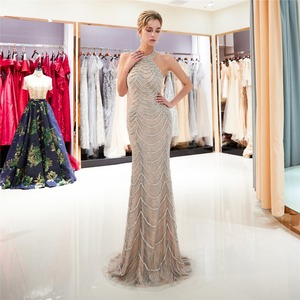 Image 2 - JaneVini יוקרה כבד ואגלי תחרת בת ים אמא של הכלה שמלות הלטר שרוולים סקסי ערבית פורמליות ארוך ערב שמלות
