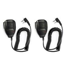 2 pçs baofeng alto falante microfone microfone ptt walkie talkie acessórios handheld para UV 5R BF 888S UV 82 GT 3 BF F8 UV 5RE UV 6R