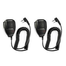2pcs BaoFeng רמקול מיקרופון מיקרופון PTT ווקי טוקי כף יד אביזרי עבור UV 5R BF 888S UV 82 GT 3 BF F8 UV 5RE UV 6R