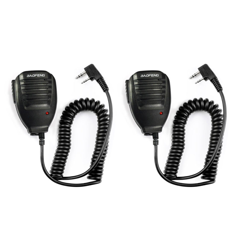 2pcs BaoFeng Speaker Microphone MIC PTT Walkie Talkie Accessories Handheld For UV-5R BF-888S UV-82 GT-3 BF-F8 UV-5RE UV-6R