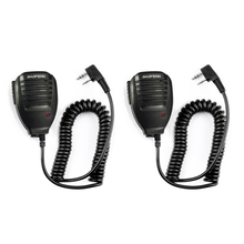 2pcs BaoFeng Speaker Microphone MIC PTT Walkie Talkie Accessories Handheld for UV 5R BF 888S UV 82 GT 3 BF F8 UV 5RE UV 6R