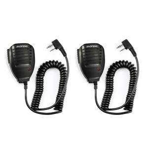 Image 1 - 2pcs BaoFeng Speaker Microphone MIC PTT Walkie Talkie Accessories Handheld for UV 5R BF 888S UV 82 GT 3 BF F8 UV 5RE UV 6R