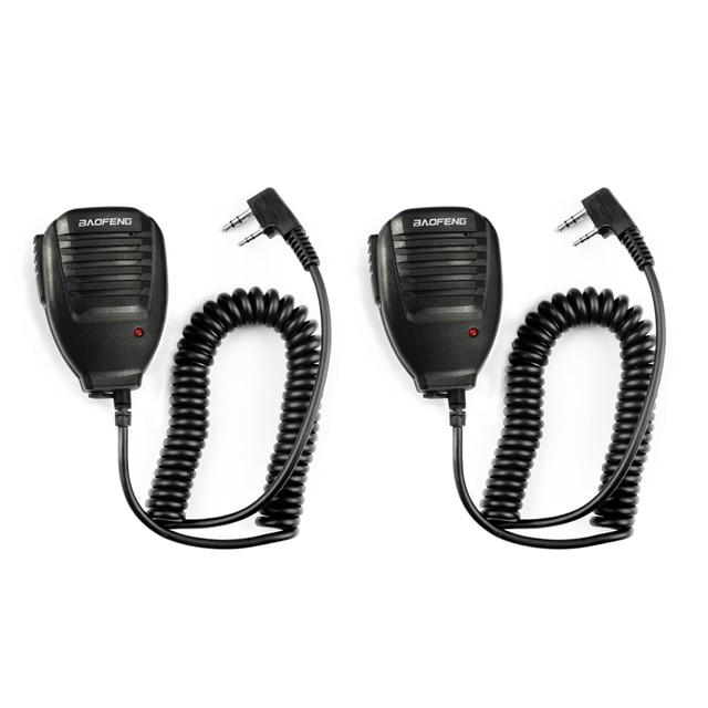 2pcs BaoFeng Speaker Microphone MIC PTT Walkie Talkie Accessories Handheld for UV 5R BF 888S UV 82 GT 3 BF F8 UV 5RE UV 6R