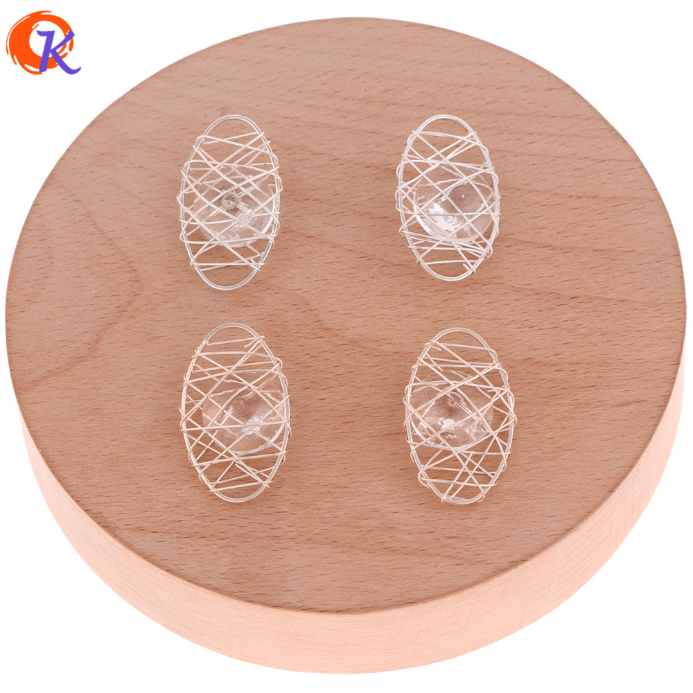 Cordial Design 50Pcs 16*27MM Earring Findings/Earring Base Parts/Wire Enlace Oval Charm Beads/Hand Made/Jewelry Accessories