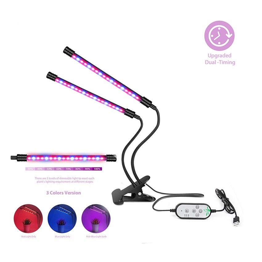 купить LED Grow Light USB Fitolampy Aluminum Grow LED Full Spectrum Phyto Lamp for Vegetable Greenhouse Flowers Plants Lighting недорого