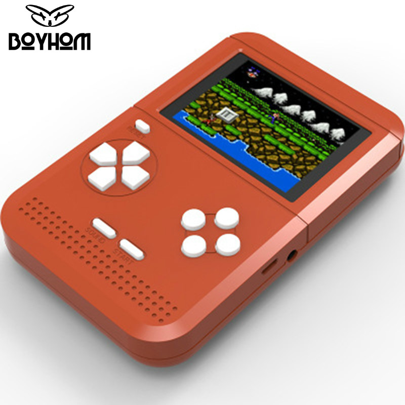 Updated RS-6 Portable Retro Mini Handheld Game Console 8 bit 2.6 inch LCD Color Colour Children Game Player Built-in 300 games