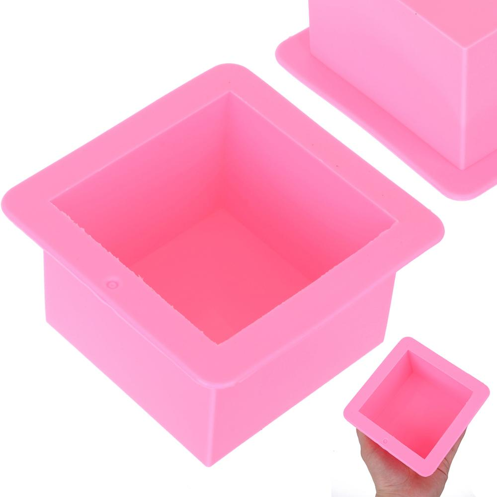 500ml Large Cube Square Soap Mold Reusable Silicone Soap Mold DIY Handmade Soaps Moulds in Soap Molds from Home Garden