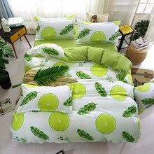 Green lemon Winter Bedding Sets Full King Twin Queen King Size 4Pcs
