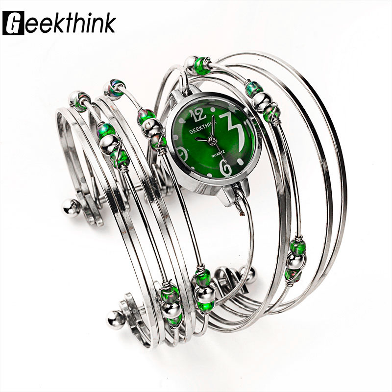 GEEKTHINK Bohemian Style Luxury Brand Quartz Watch Women Bracelet Ladies Casual Dress Steel band Clock Female Girls Trending 2016 women diamond watches steel band vintage bracelet watch high quality ladies quartz watch