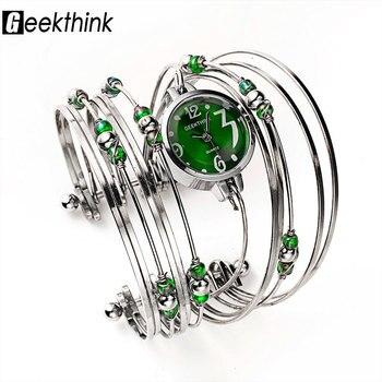 GEEKTHINK Bohemian Style Luxury Brand Quartz Watch Women Bracelet Ladies Casual Dress Steel band Clock Female Girls Trending - discount item  12% OFF Women's Watches
