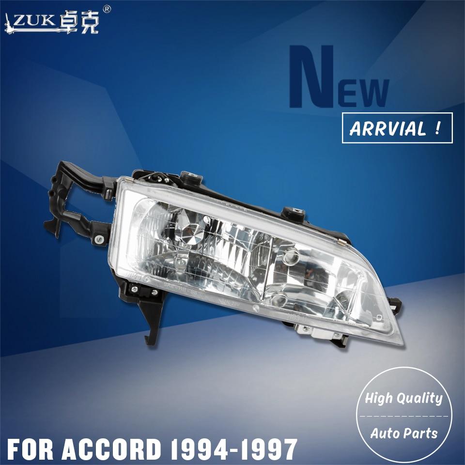 ZUK 2PCS Left Right Front Headlight Headlamp Head Light Lamp For HONDA ACCORD CD5 CE6 1994 1995 1996 1997 For U.S.A Version