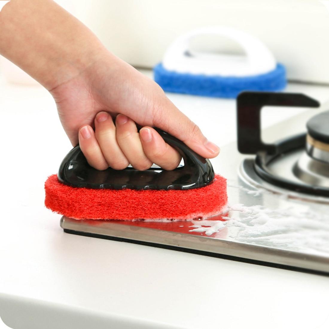 Hot sale Household Supplies Handle Hard Sponge Cleaning Brush Sanitary Tools Brusher