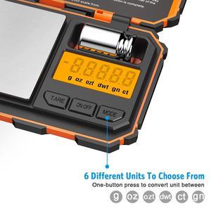 Image 3 - Digital Pocket Küche Skala LED 200g/0,01g Mini Tragbare Elektronische Waagen Essen Mess Küche Lebensmittel Skala Gewicht werkzeug