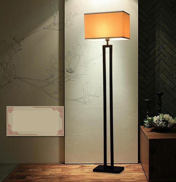 Modern new Chinese style floor lamp antique iron art sitting room ...