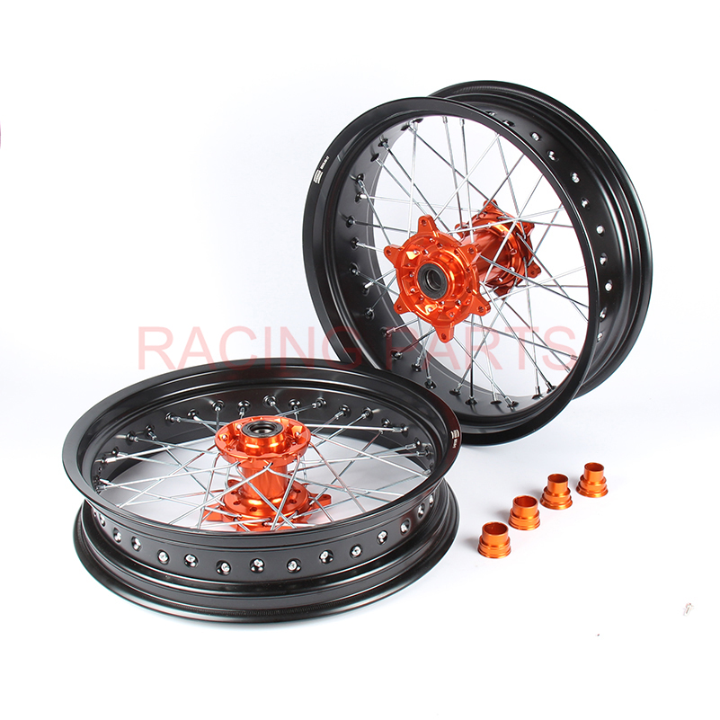 3.5/4.25*17 OEM SIZE SUPERMOTO FIT crf CRF250X CRF450X 05-17 WHEEL RIM SETS