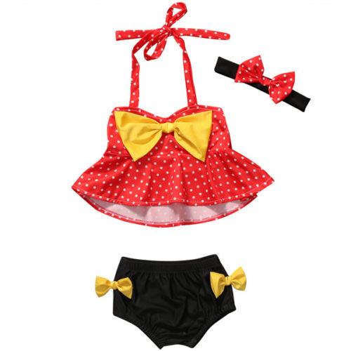 0-4years Summer Kids Girls clothes Tankini Bikini sets Swimwear Bathing Suit Beachwear baby girl clothes sets