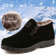2016 Old Beijing style winter men cloth shoes plus thick velvet  cotton-padded shoes non-slip BABA winter warm shoes snow boots