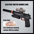 Juguetes de agua pistolas de bala pistola eléctrica bomba de cristal de largo alcance de disparo Continuo incluyen 2800 balas de Gran simulación juguete del partido