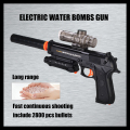 electric toys guns water bullet pistol long range crystal bomb Continuous firing include 2800 bullets Large simulation party toy
