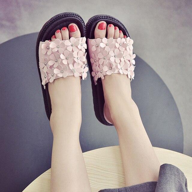 Flipflops Remaches Mujer Sandalias Diseño Plataforma Marca Floral De tsQCdxhr